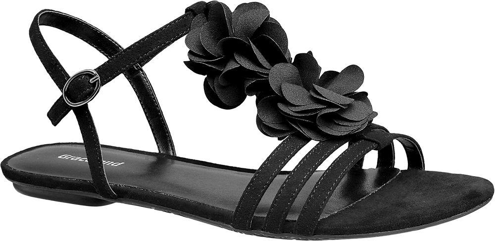 Klapki i sandały - Sandały damskie Graceland czarne