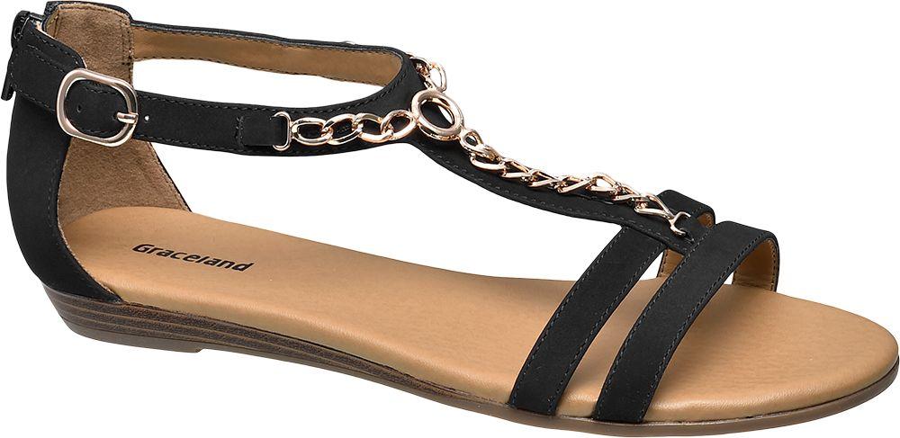 Sandały damskie Graceland czarne