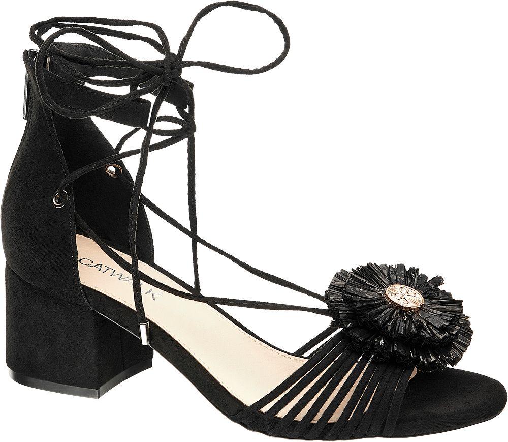Sandały na obcasie Catwalk czarne