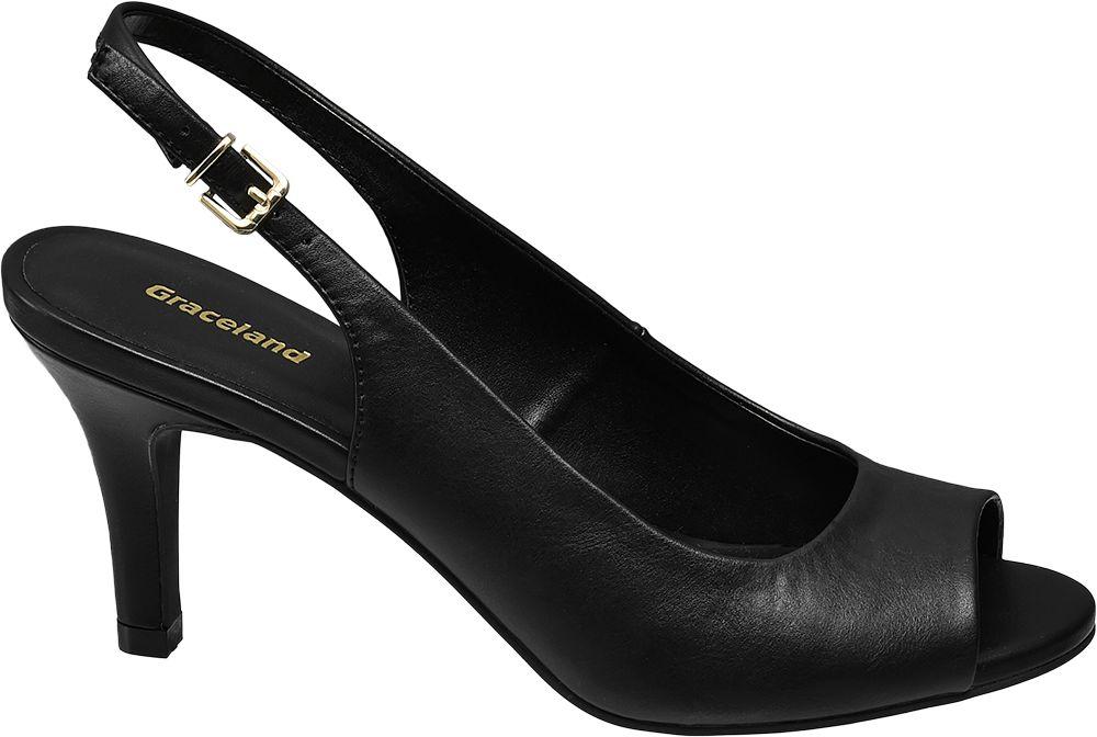 Sandały na obcasie Graceland czarne