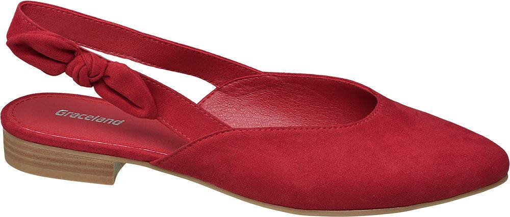 Baleriny damskie Graceland czerwone