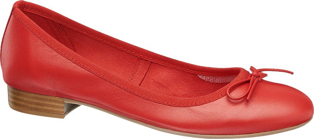 Obraz przedstawiający baleriny damskie 5th Avenue czerwone