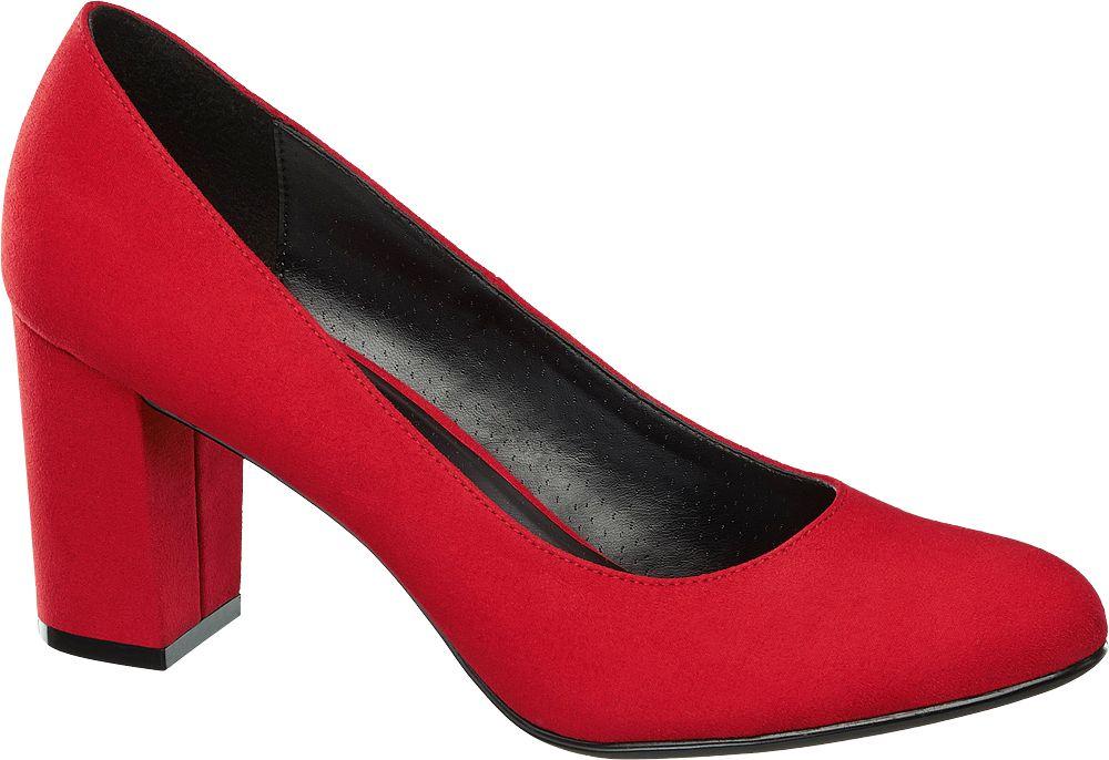 czółenka damskie Graceland czerwone