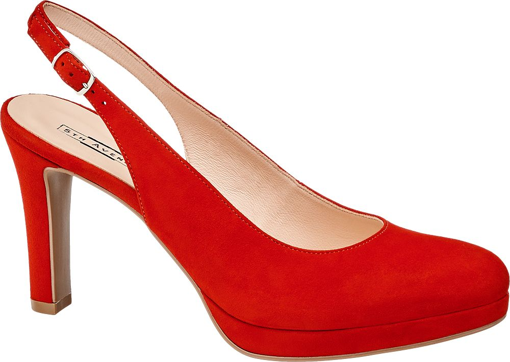 Czółenka damskie 5th Avenue czerwone