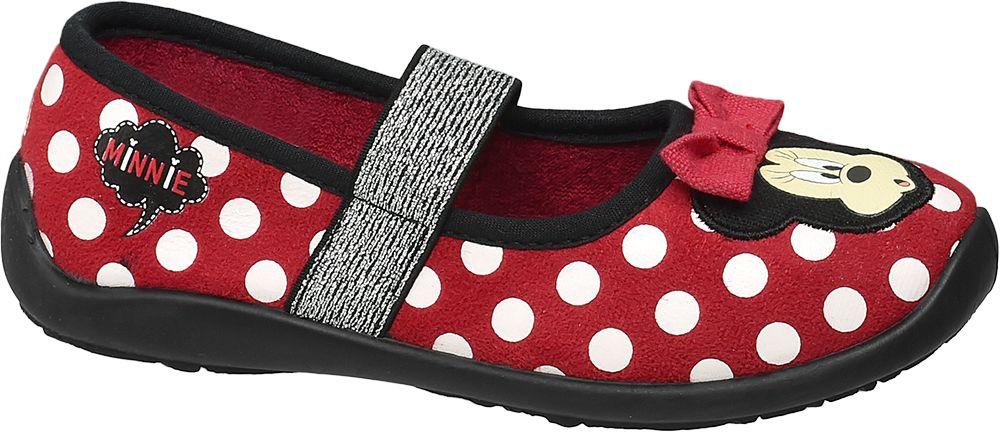 Kapcie dziecięce Minnie Mouse czerwone