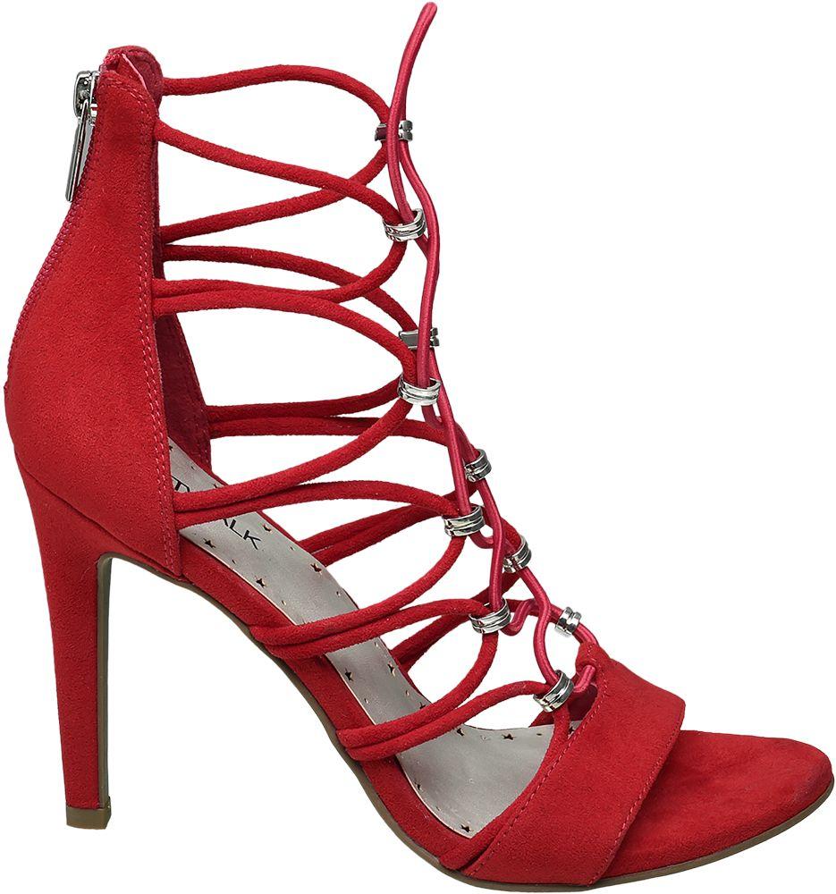 Sandałki na obcasie Catwalk czerwone
