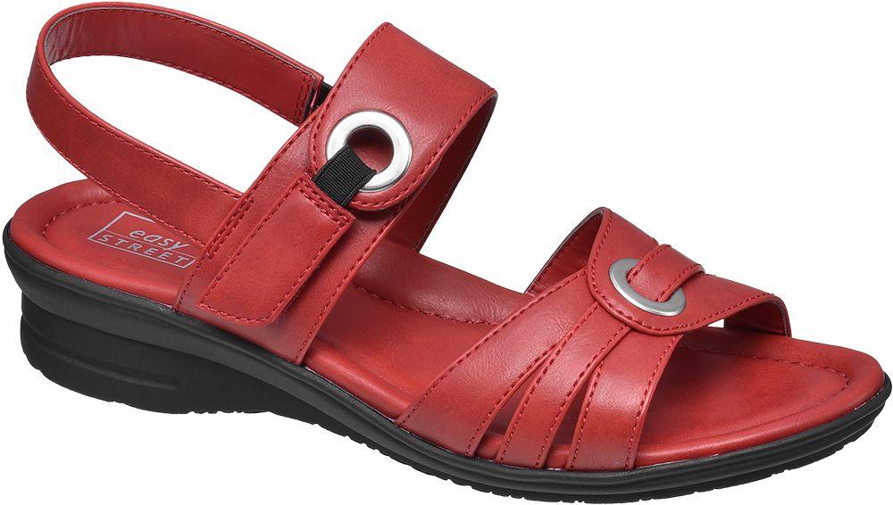 Sandały damskie Easy Street czerwone