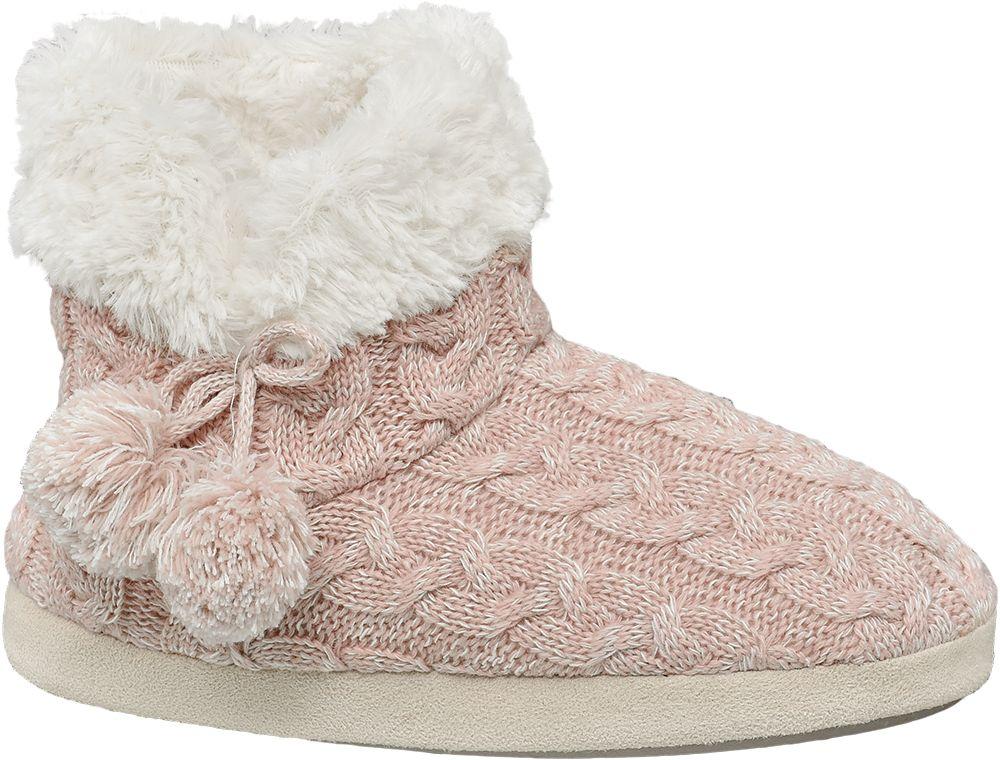 Deichmann - Casa mia Dámská zateplená domácí obuv 42 růžová