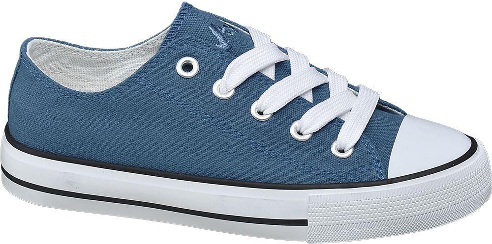 bb3a427121a Deichmann - Vty Dětské plátěné tenisky 34 modrá