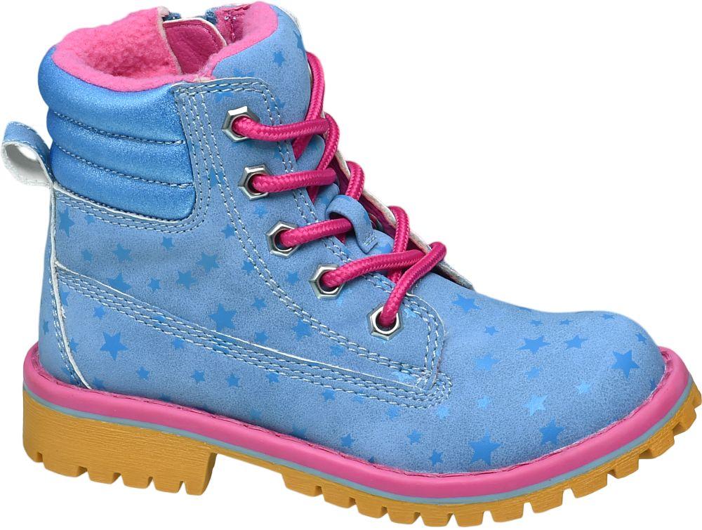 Deichmann - Venice Dívčí zimní šněrovací obuv 27 modrá