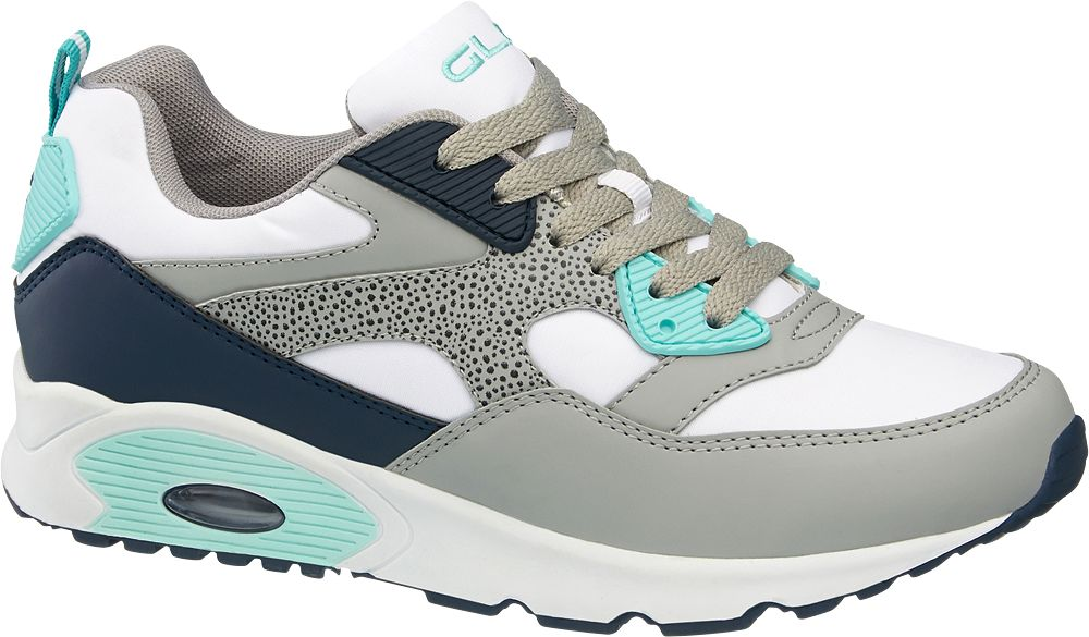 Beyaz Gri Lacivert Sneaker Graceland