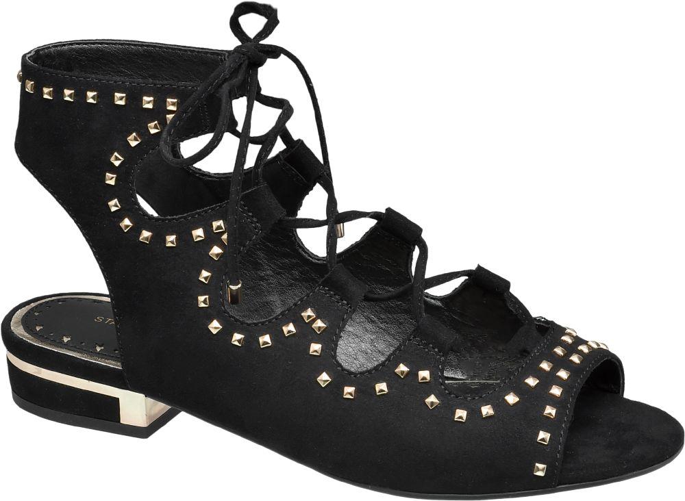 Siyah Bağcıklı Sandalet Graceland