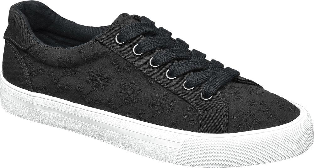 Siyah Keten Sneaker Graceland