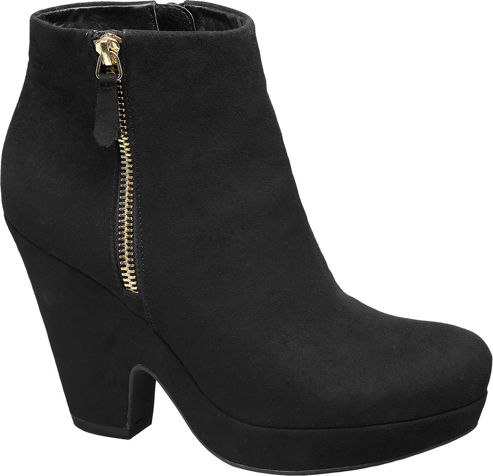 Scoop Wedge Ankle Boots
