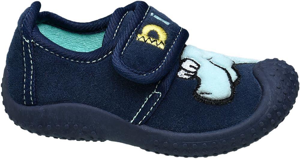 kapcie dziecięce Bobbi Shoes niebieskie