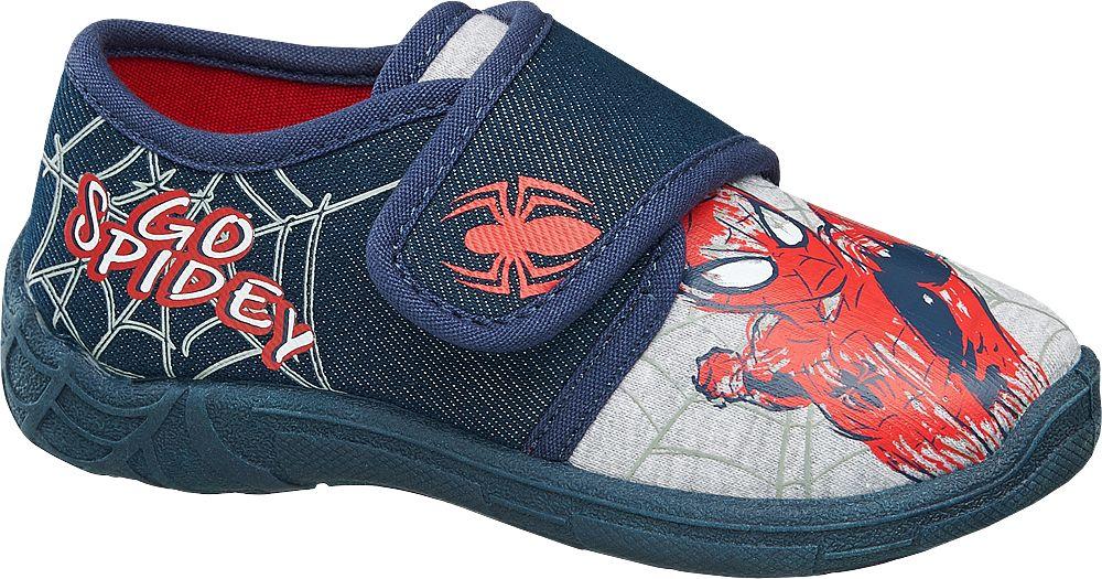 Kapcie dziecięce Spiderman niebieskie
