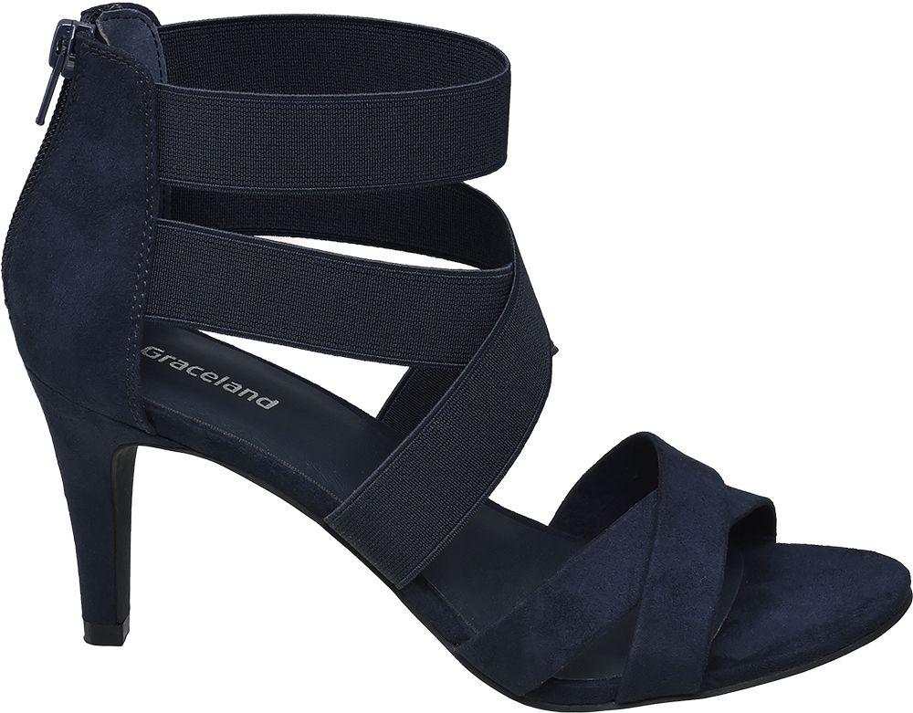 Sandałki na obcasie Graceland niebieskie