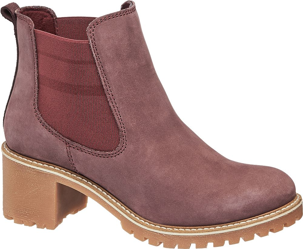 3f4e63fc6d Deichmann - 5th Avenue Kožená kotníková obuv Chelsea 38 bordó