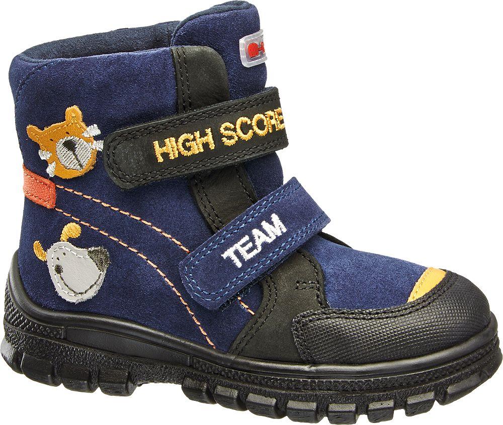 Deichmann - Elefanten Kožená kotníková obuv 23 černá