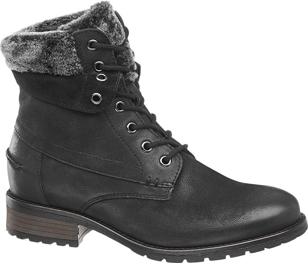 5eea3e7a5366 Deichmann - Landrover Kožená šněrovací obuv 38 černá