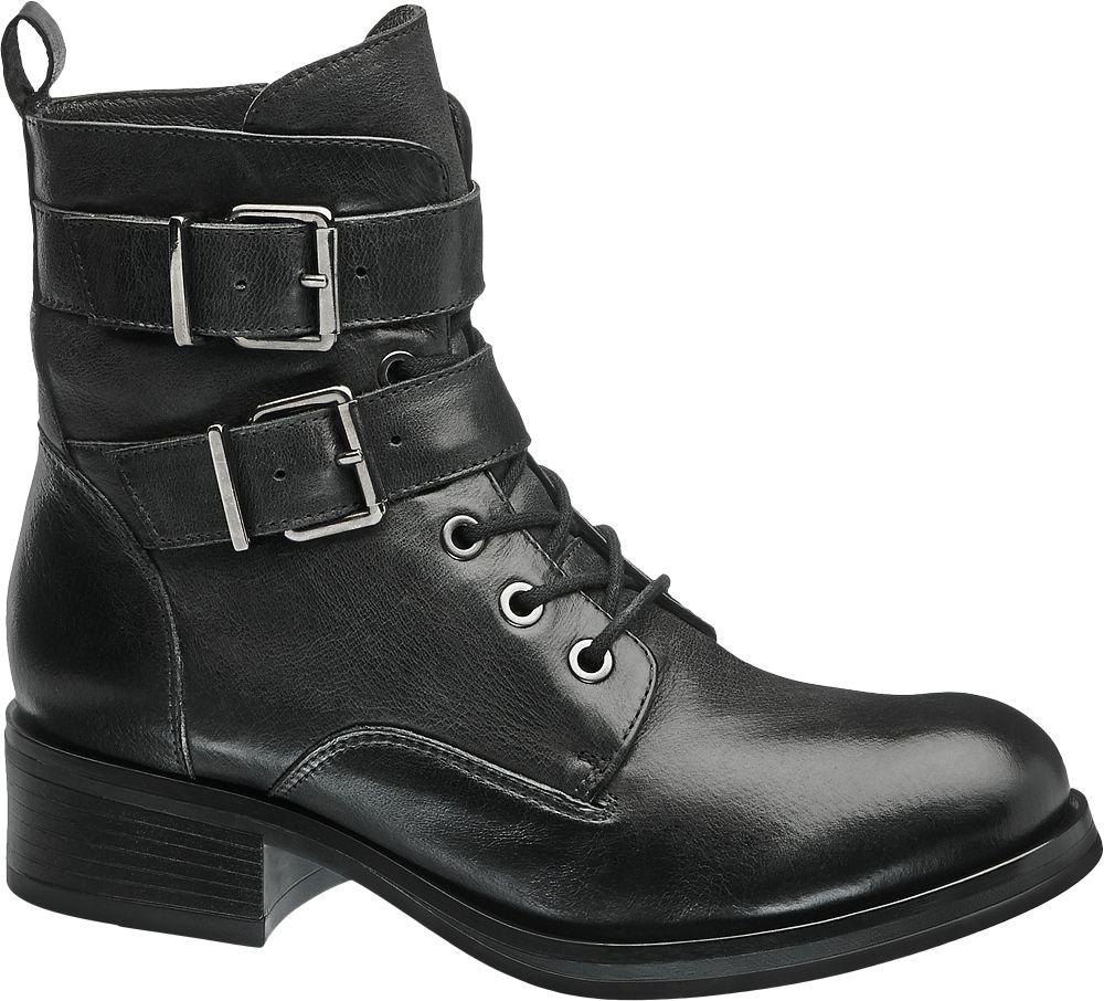 5th Avenue Kožená šněrovací obuv  černá