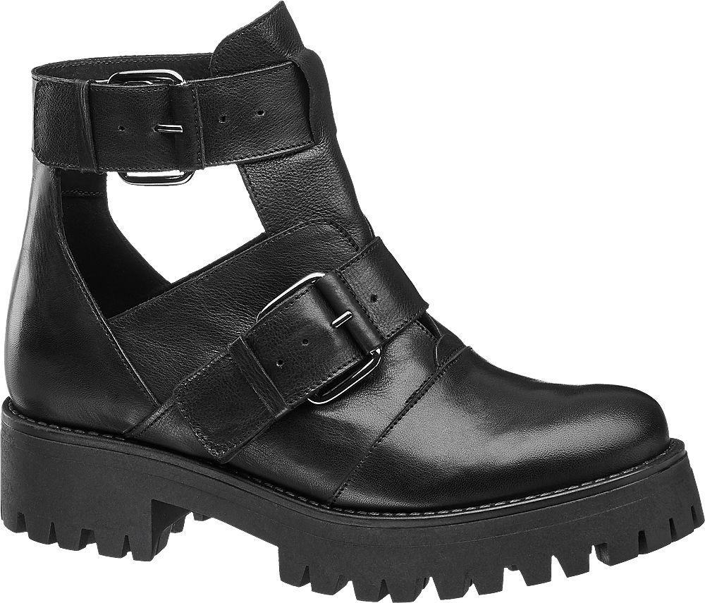 2e5e44e6d395 Deichmann - 5th Avenue Kožená obuv 38 černá