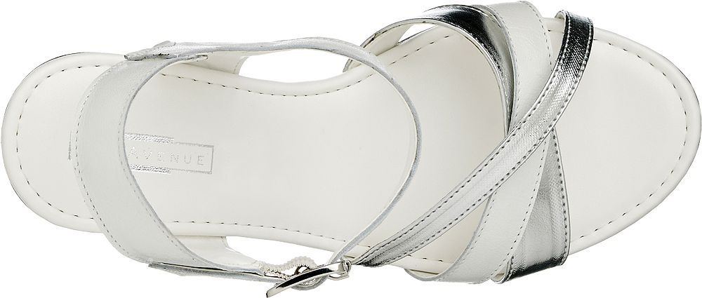 5th Avenue Kožené sandály na klínku  bílá