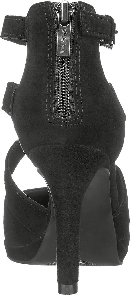5th Avenue Kožené sandály na podpatku  černá
