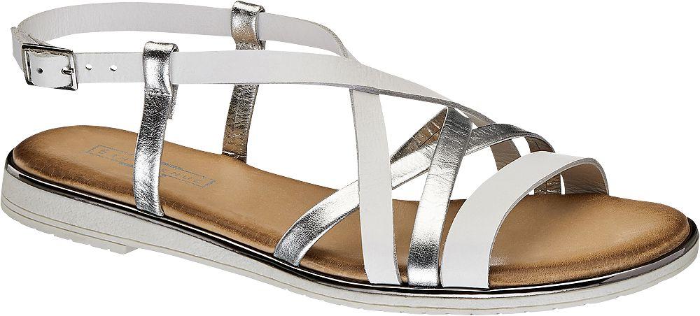 5th Avenue Kožené sandály  stříbrná
