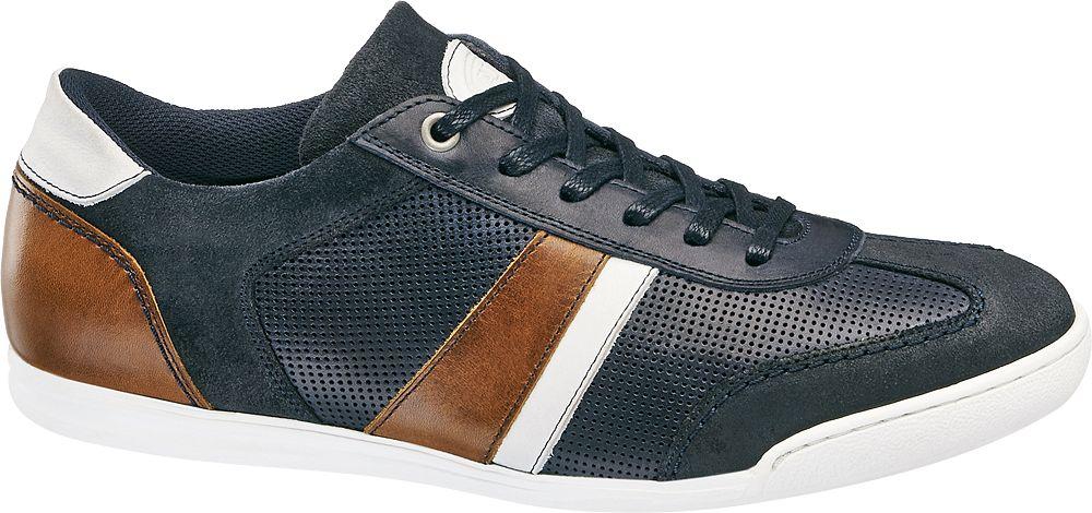AM SHOE Kožená vycházková obuv  modrá