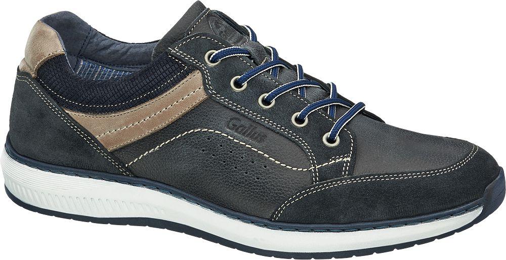 Gallus Kožená vycházková obuv  modrá