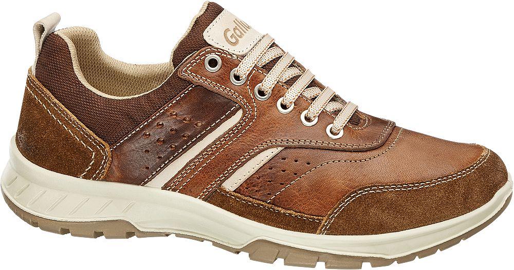 Gallus Kožená vycházková obuv  hnědá