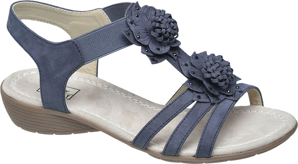 Sandały damskie Easy Street niebieskie