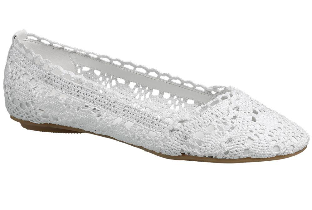 Baleriny damskie Graceland białe