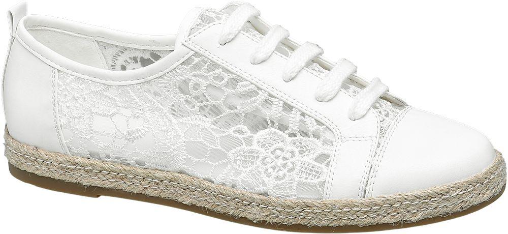Półbuty damskie Graceland białe