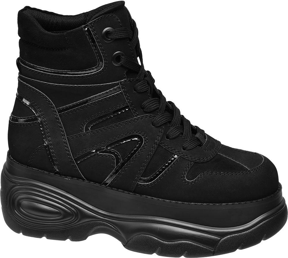Catwalk Kotníkové Chunky tenisky  černá