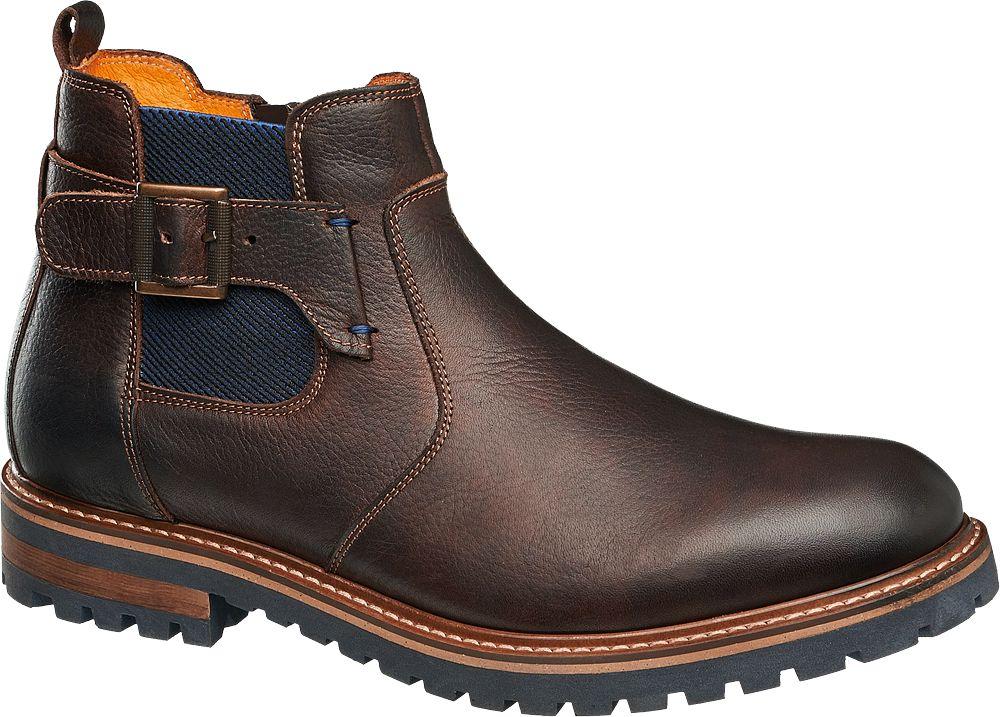 Deichmann - AM SHOE Kotníková obuv Chelsea 42 barva zrnkové kávy