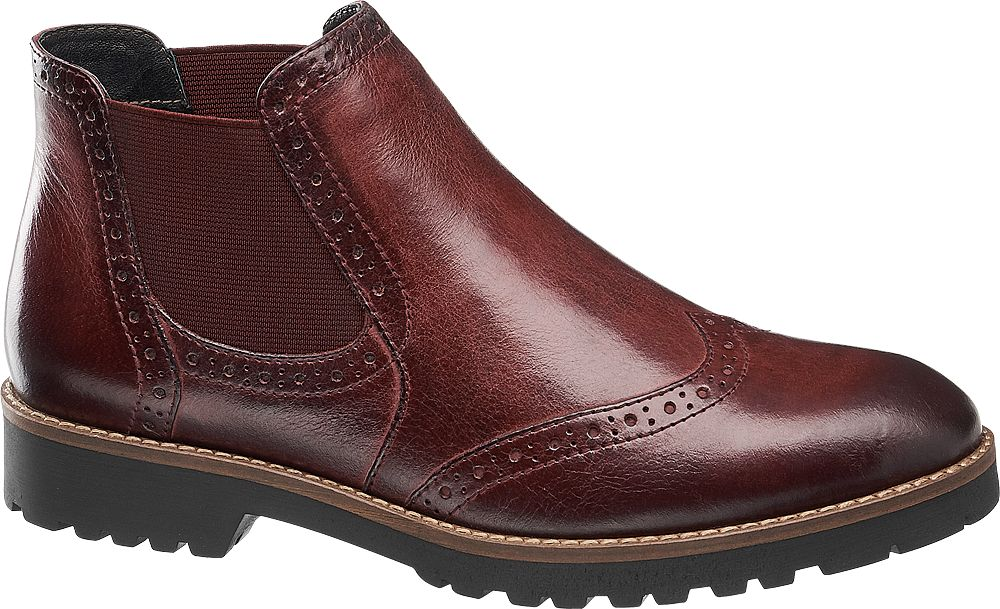 5th Avenue Kotníková obuv Chelsea  bordó