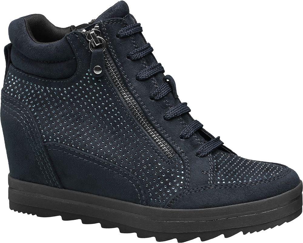 Graceland - Kotníková obuv na klínovém podpatku