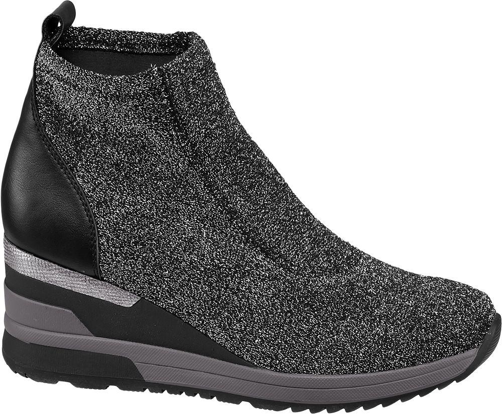 Graceland Kotníková ponožková obuv  šedá