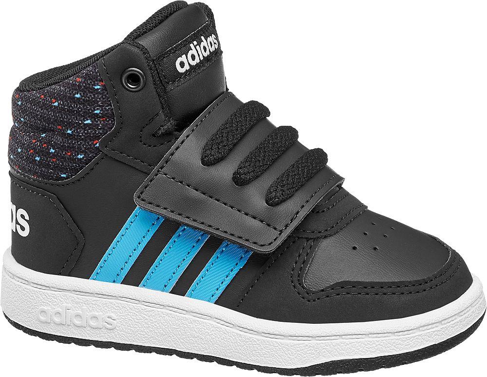 Deichmann - adidas Kotníkové tenisky Hoops Mid 2.0 24 černá 76215acc17