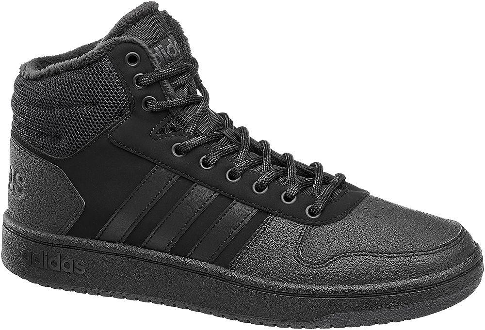 Deichmann - adidas Kotníkové tenisky Hoops Mid 44 černá 18707fe9491