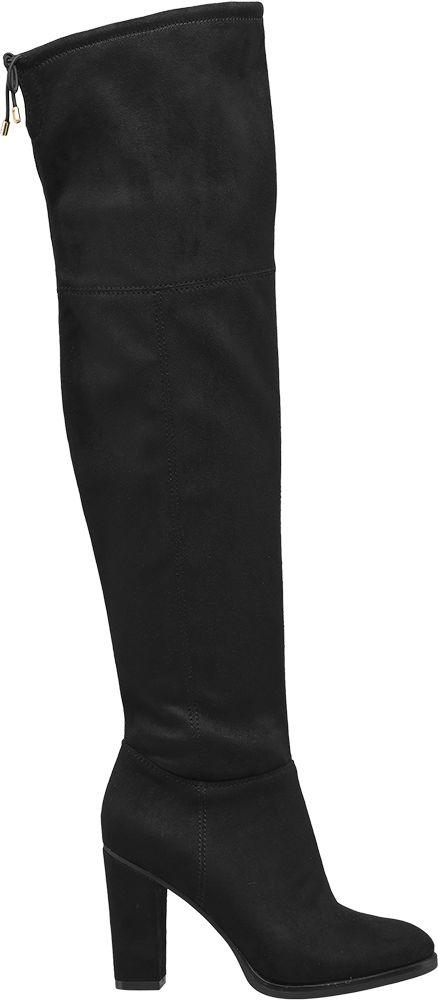 Graceland Kozačky nad kolena  černá