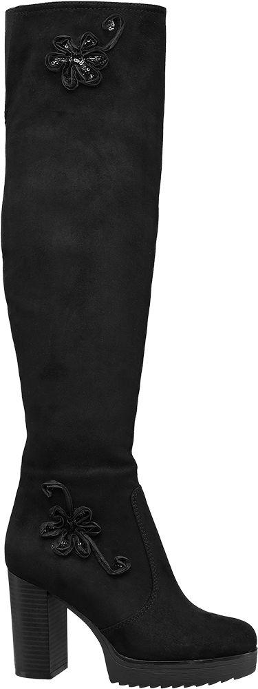 Deichmann - Graceland Kozačky nad kolena 37 černá