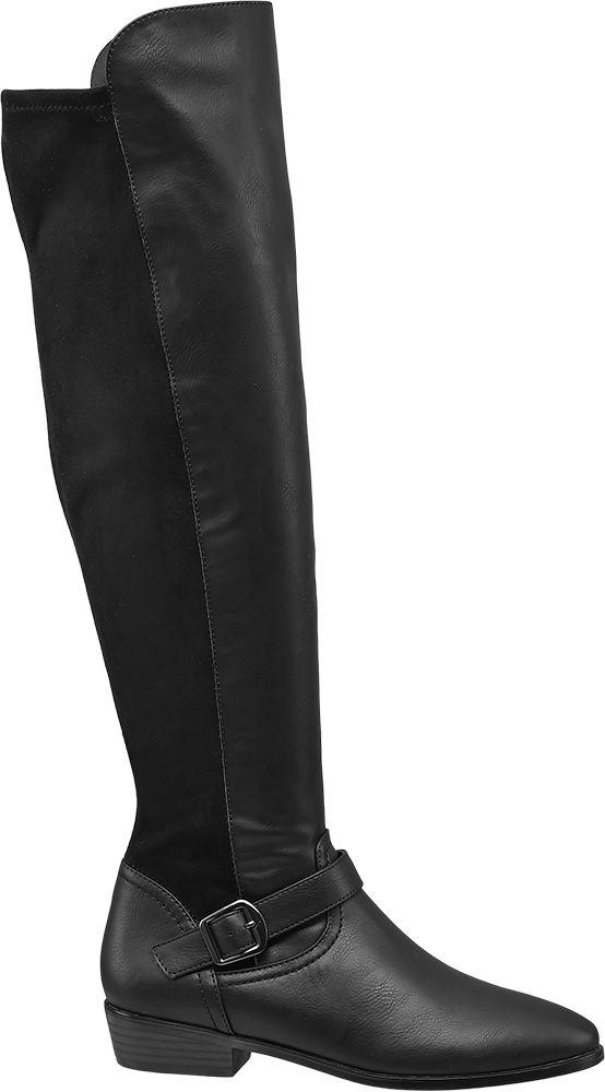 Deichmann - Graceland Kozačky nad kolena 40 černá c6f8d3f7c65