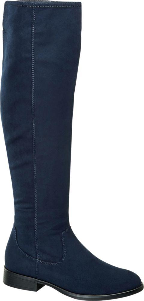 Deichmann - Graceland Kozačky nad kolena 39 modrá