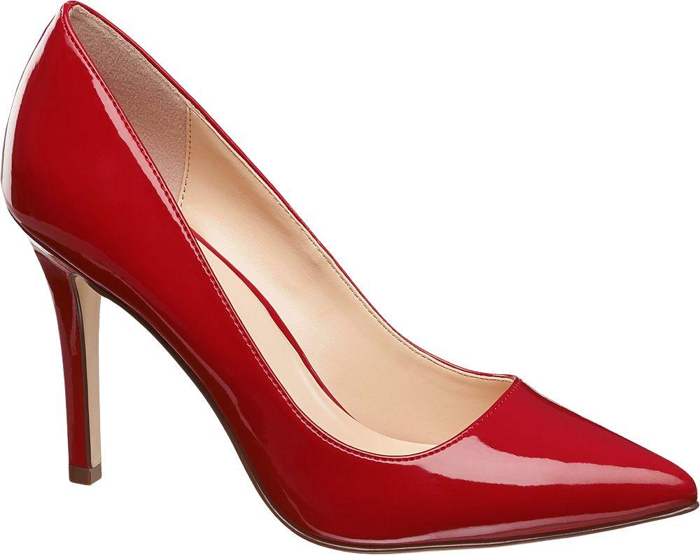 Graceland Lakované lodičky  červená