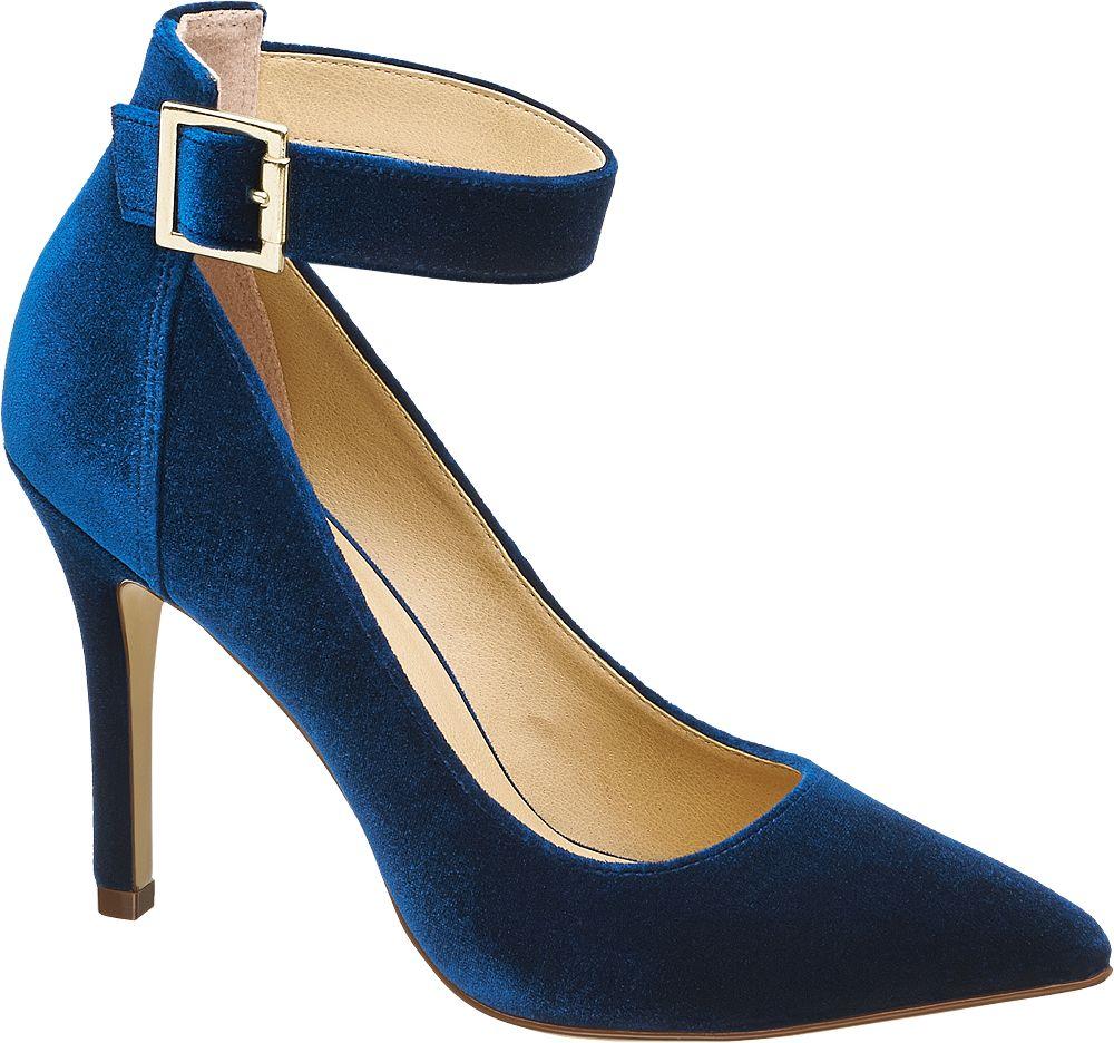 Deichmann - Graceland Lodičky s páskem 36 modrá