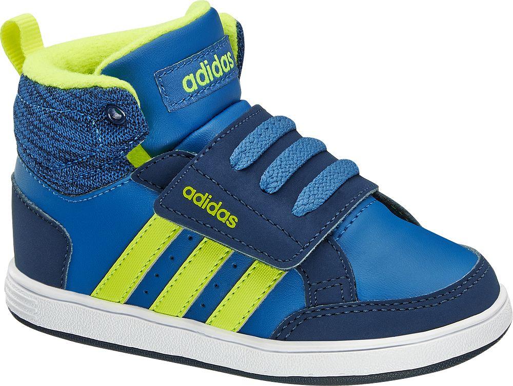 buty dziecięce Adidas Hoops Cmf Mid Inf adidas neo label niebieskie