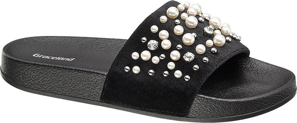 Graceland Módní pantofle  černá